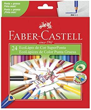 Lápis de Cor Faber-Castell SuperPonta 24 cores