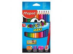 Lápis de Cor Maped Color'Peps Maxi 12 cores