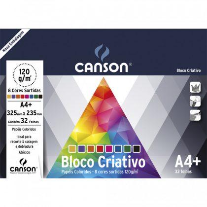 Bloco Canson Colorido Criativo Cards